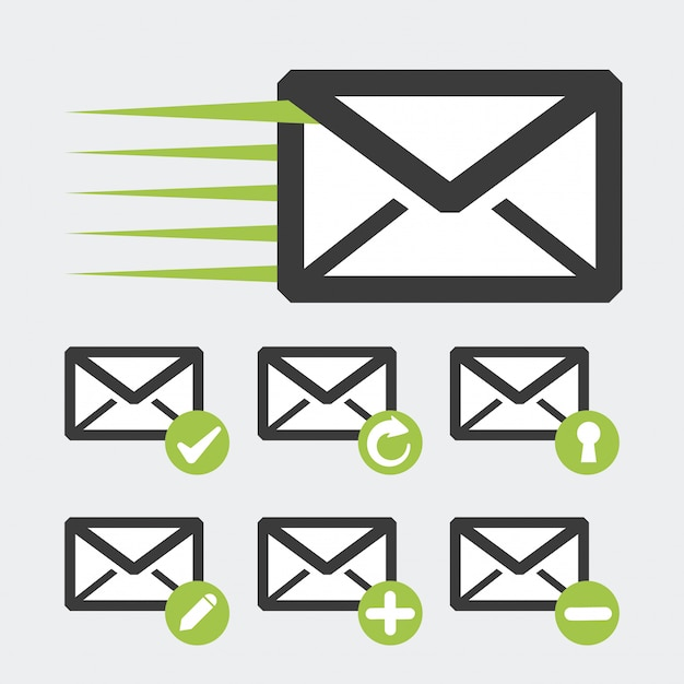 Ícone do mail design Vetor Premium