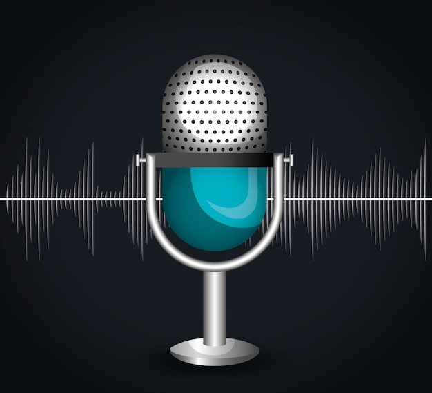 Ícone do microfone Vetor grátis