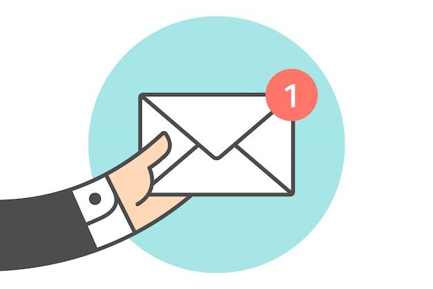 Ícone do novo envelope de correio Vetor Premium