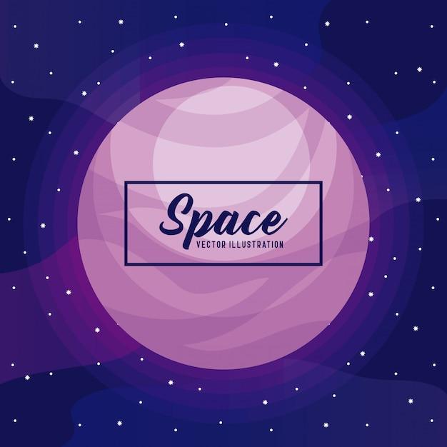Ícone do universo espaço planeta Vetor Premium