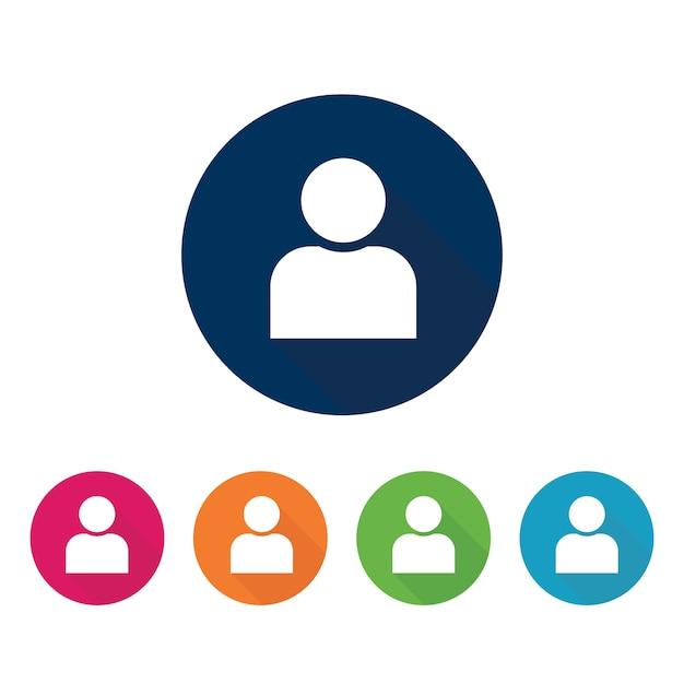 Ícone do usuário. Vetor Premium