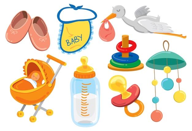 Ícone dos desenhos animados do bebê Vetor Premium