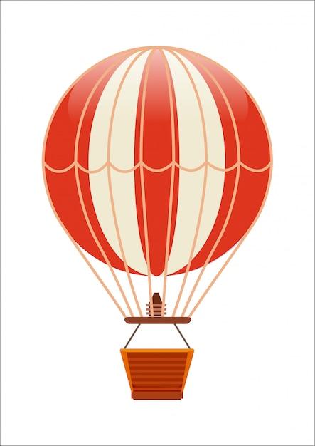 Ícone isolado de balão voador grátis Vetor Premium