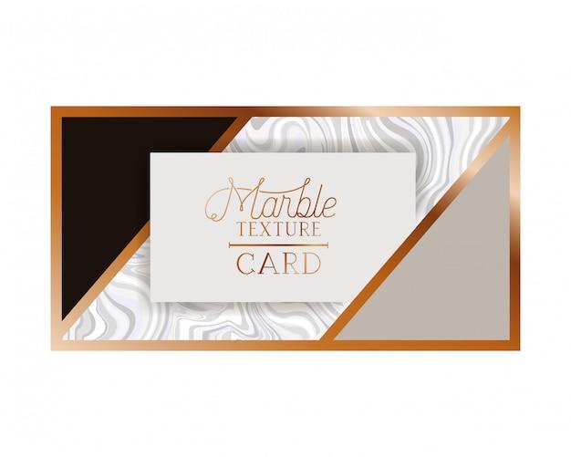 Ícone isolado de etiqueta de cartão de textura de mármore Vetor Premium