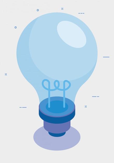 Ícone isolado de invenção de lâmpada Vetor grátis