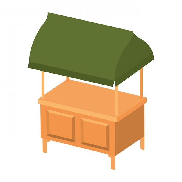Ícone isolado de quiosque de loja Vetor Premium