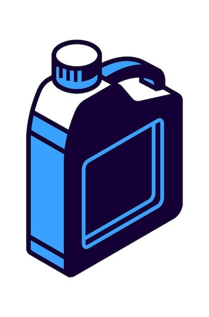 Ícone isométrico do cilindro de gasolina, ilustração do recipiente de armazenamento de líquido Vetor grátis