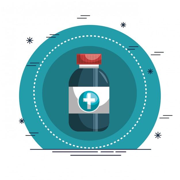 Ícone médico de drogas frasco Vetor grátis
