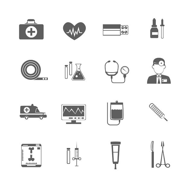 Ícone médico simples Vetor Premium