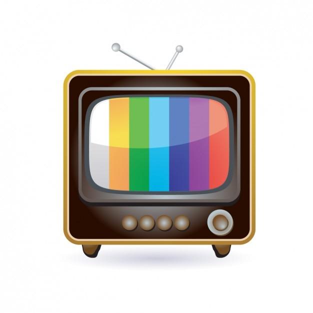 cone retro da televis o baixar vetores gr tis. Black Bedroom Furniture Sets. Home Design Ideas