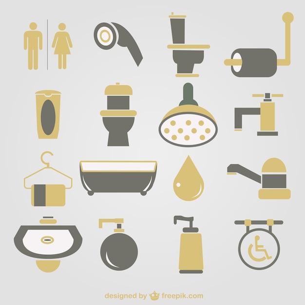 ícones banheiro vetor  Baixar vetores grátis -> Banheiro Masculino E Feminino Vetor Gratis