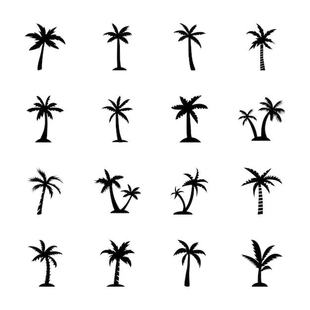 Ícones da árvore de faia Vetor Premium