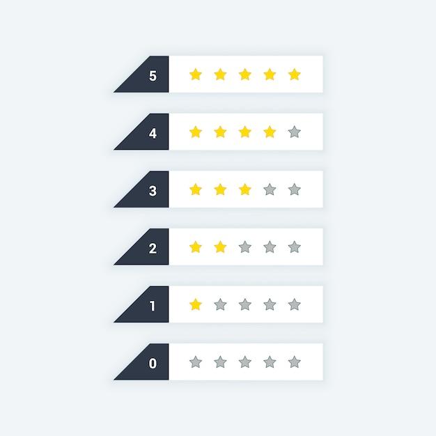 Ícones da web de classificação de estrelas limpas Vetor grátis