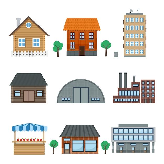 Ícones de construção Vetor grátis