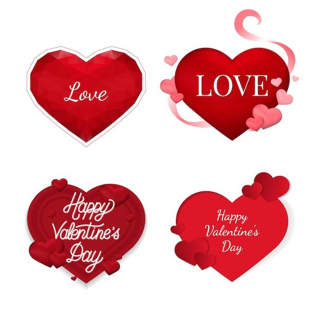 Ícones de ilustração de dia dos namorados Vetor grátis