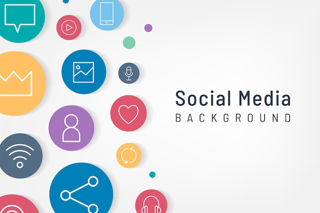 Ícones de mídia social Vetor grátis