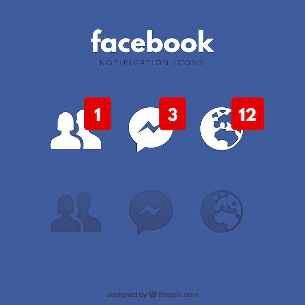 Ícones de notificação do Facebook | Baixar vetores grátis