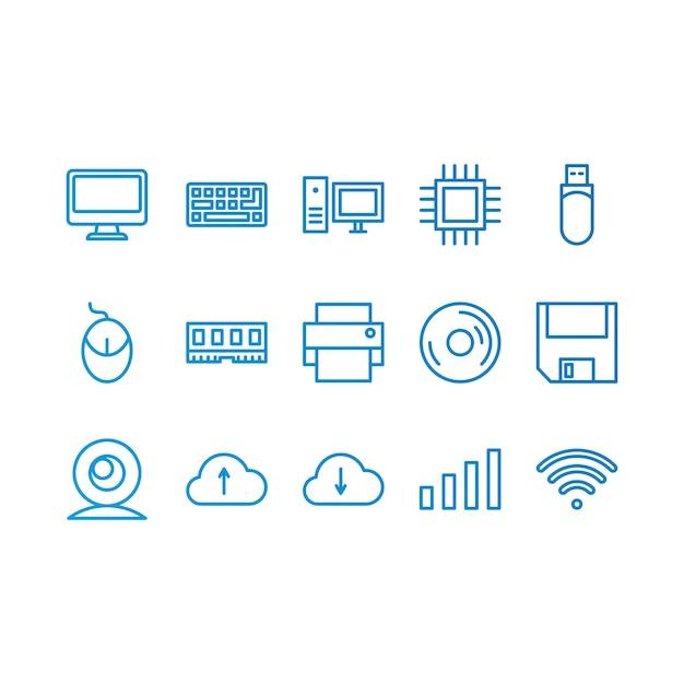 Ícones do computador Vetor grátis