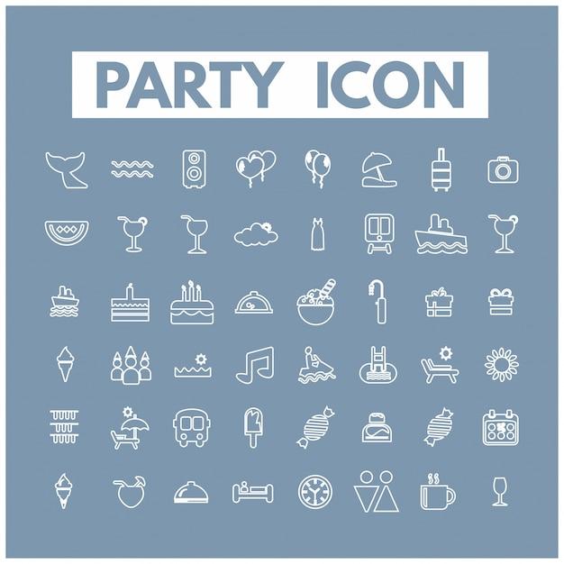 Ícones do partido Vetor grátis