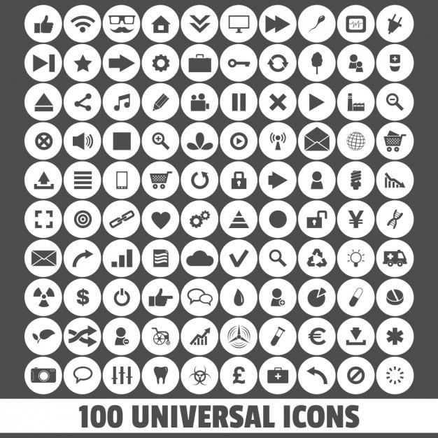 ícones universais Vetor grátis