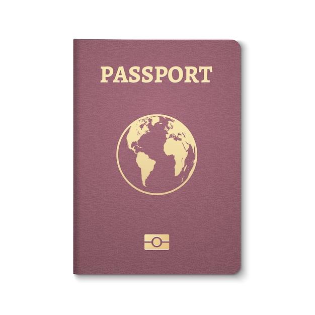 Id do documento do passaporte. passe internacional para viagens de turismo Vetor Premium