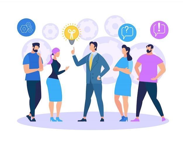Idéia de compartilhamento de treinamento de negócios Vetor Premium