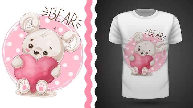 Idéia de pêra bonito para impressão t-shirt Vetor Premium