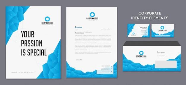 Identidade corporativa da marca Vetor Premium