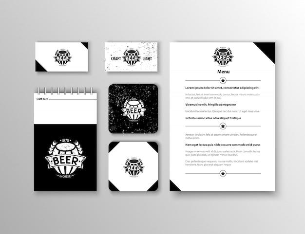 Identidade corporativa. modelo de design de papelaria clássico. documentação para negócios. Vetor grátis