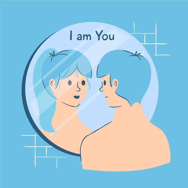 Identidade de gênero ilustrada conceito conceito Vetor grátis