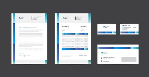 Identidade de marca de negócios corporativos ou design de papelaria ou design de documento de empresa start-up Vetor Premium