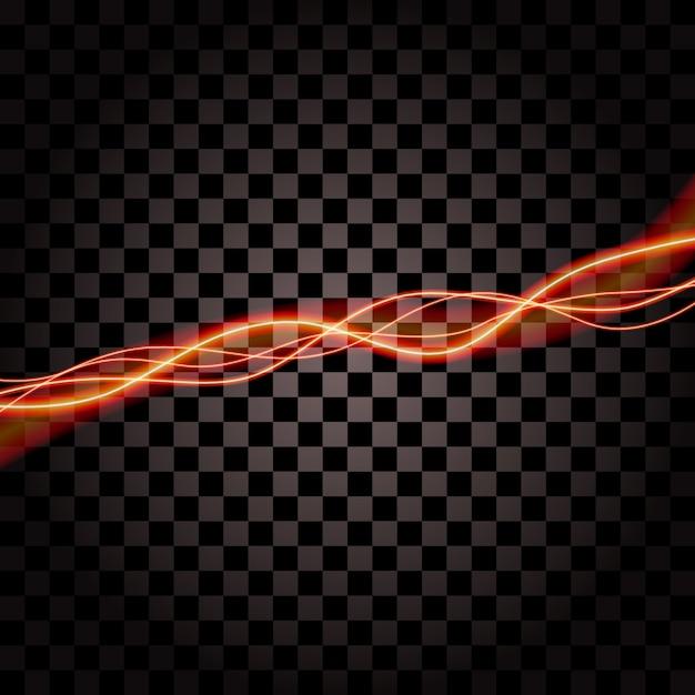 Iluminação trovão elétrico tempestade brilho vetor de brilho Vetor Premium