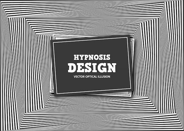 Ilusão de ótica abstrata. faixa listrada preto e branco Vetor Premium