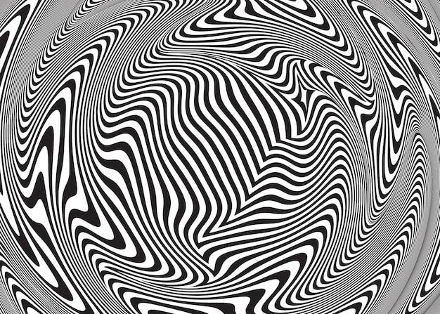 Ilusão de ótica abstrata. fundo espiral trançado Vetor Premium