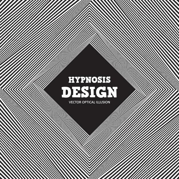 Ilusão de ótica abstrata. fundo preto e branco de listras onduladas Vetor Premium