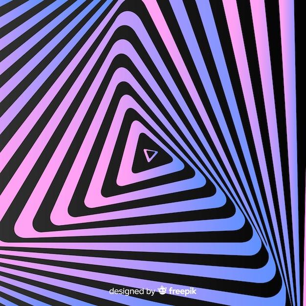 Ilusão de ótica fundo liso ondulado Vetor grátis