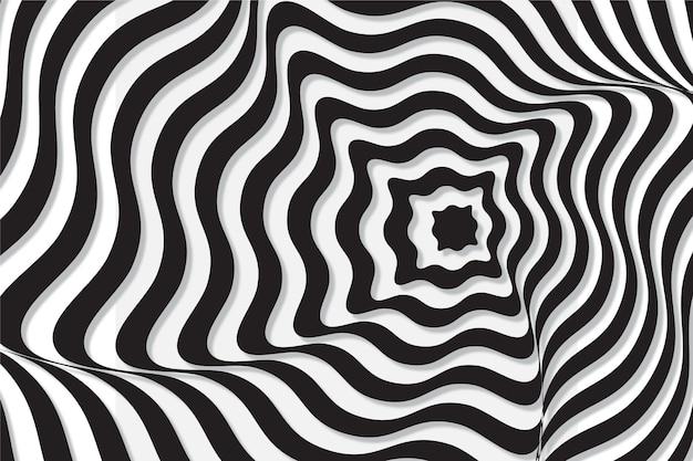 Ilusão de ótica psicodélica de fundo Vetor grátis