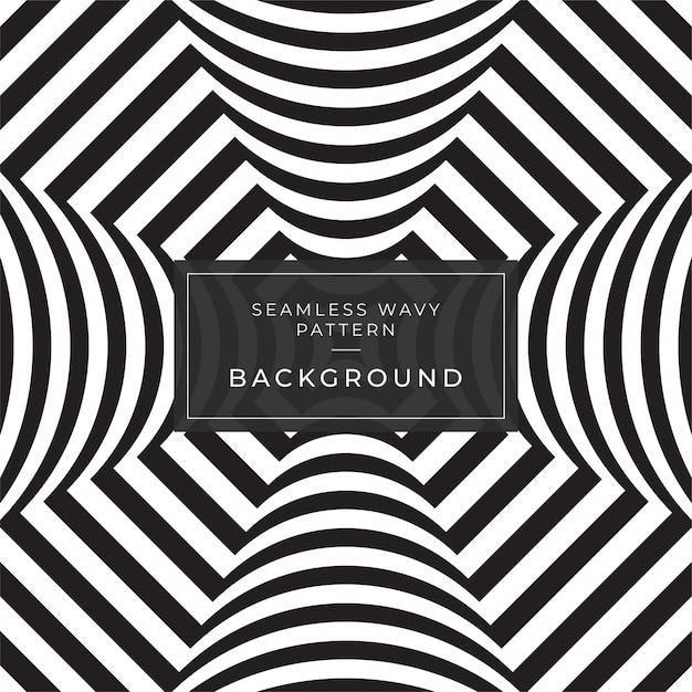 Ilusão de ótica resumo linhas fundo cartaz facebook geométrica padrão de linha preto e branco eps10 Vetor Premium