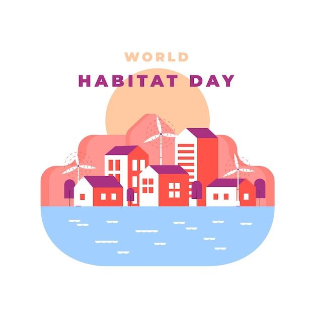 Ilustração abstrata do dia mundial do habitat Vetor grátis