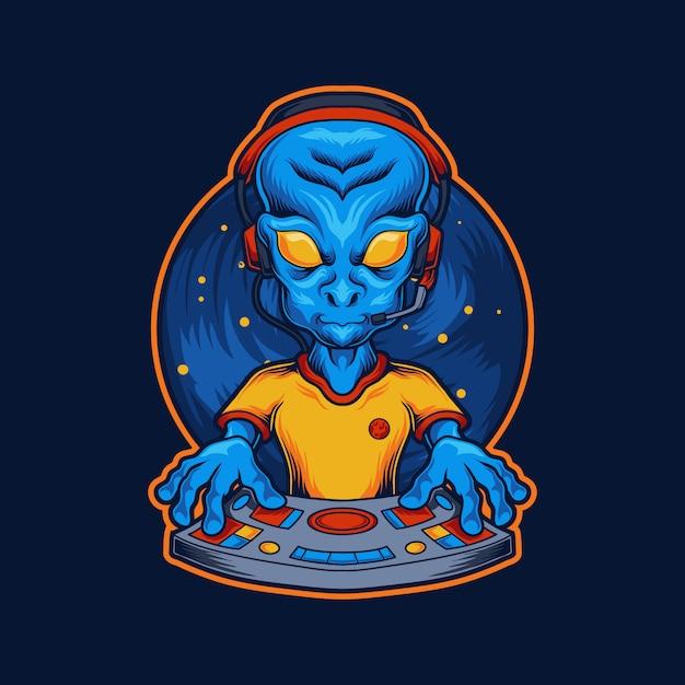 Ilustração alienígena de jogador Vetor Premium