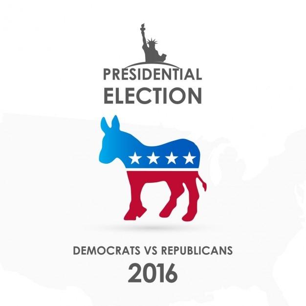 Ilustração americana do vetor da eleição Vetor grátis
