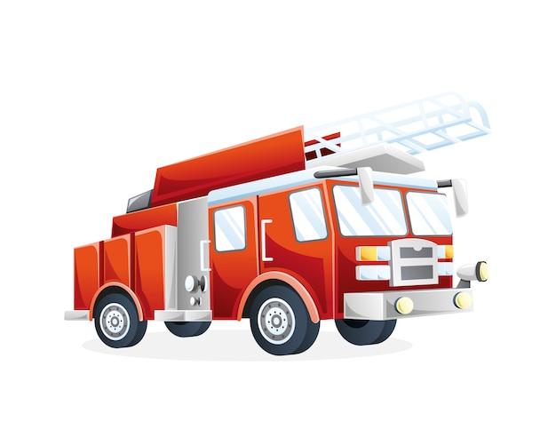 Ilustração caminhão de bombeiros Vetor Premium