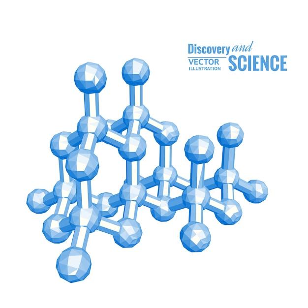 Ilustração científica da molécula Vetor grátis
