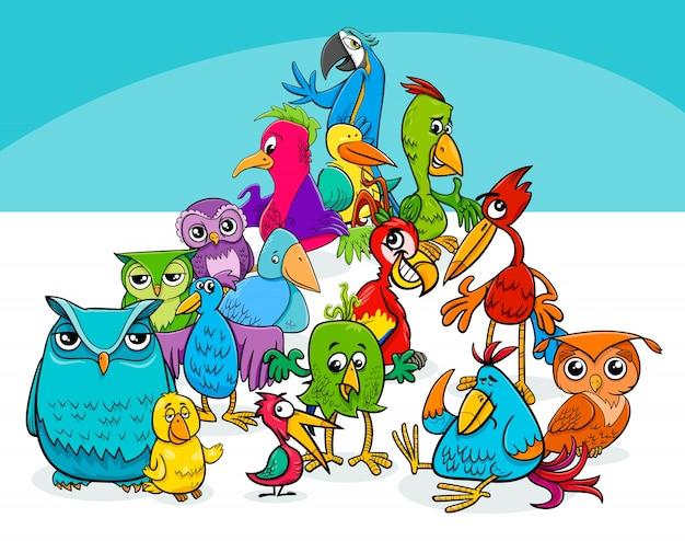 Colorido Angry Birds Personagens Vector: Ilustração Colorida Dos Desenhos Animados Do Grupo Dos