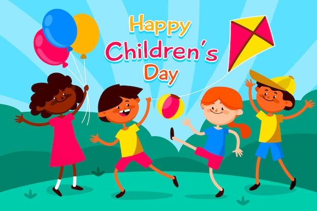Ilustração colorida para evento do dia das crianças Vetor grátis