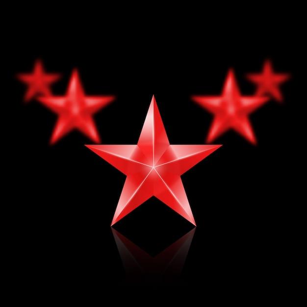 Ilustração com estrela dourada brilhante l Vetor Premium