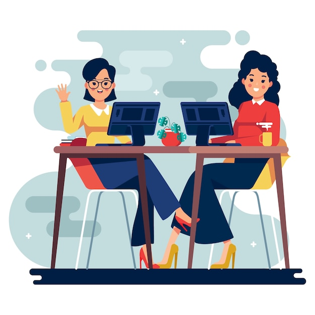 Ilustração com pessoas de negócios Vetor grátis