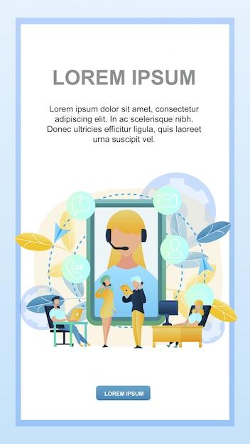 Ilustração concept online 24/7 suporte ao cliente Vetor Premium