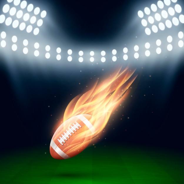 Ilustração criativa de futebol americano Vetor grátis