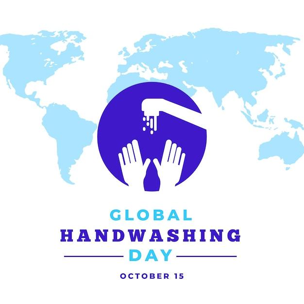 Ilustração criativa do evento global do dia da lavagem das mãos Vetor Premium